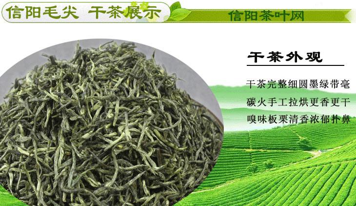 新茶信阳毛尖雨前茶特级珍芽干茶图片